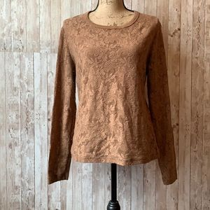 New York & Company Long sleeved Lace Shirt